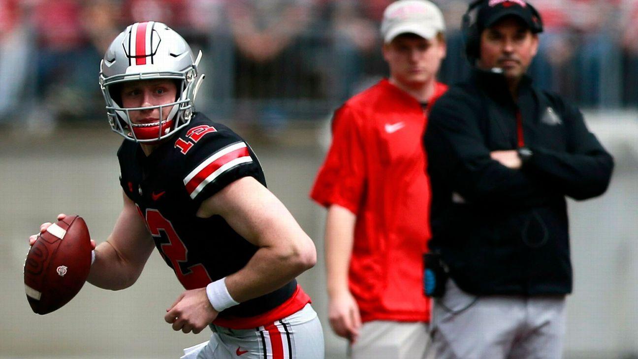 Ohio State freshman quarterback Matthew Baldwin, who redshirted last season, plans to enter the transfer portal, coach Ryan Day said Thursday.