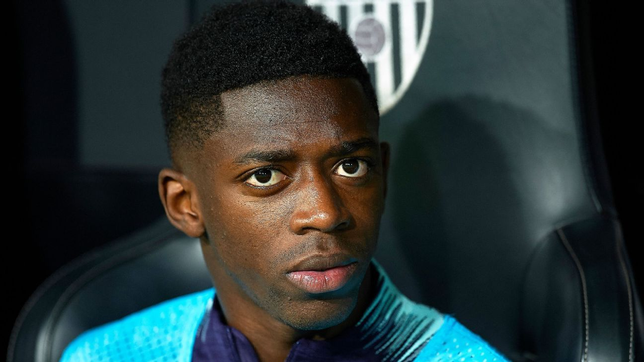 Barca injury woes mount as Dembele out 5 weeks
