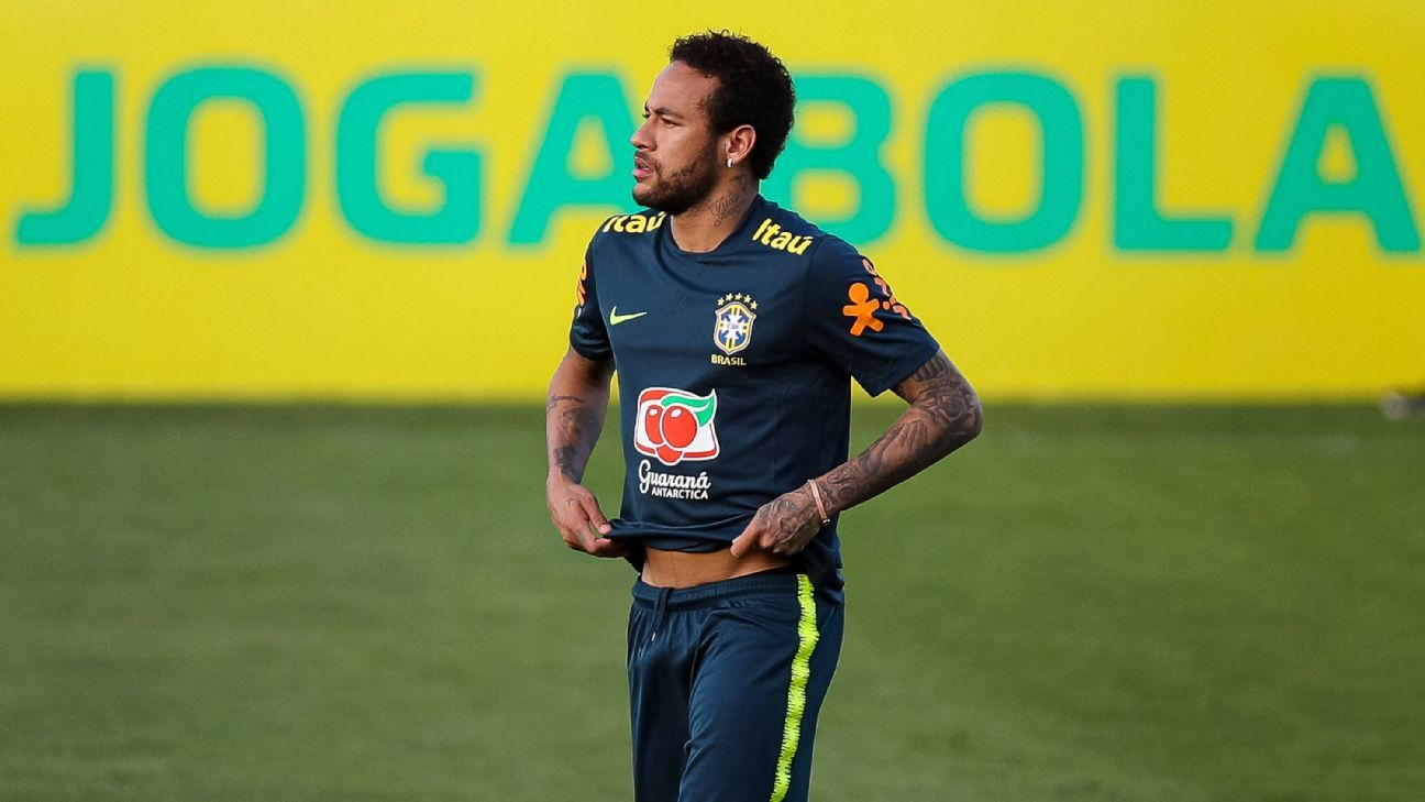 Neymar limps out of Brazil training before Copa