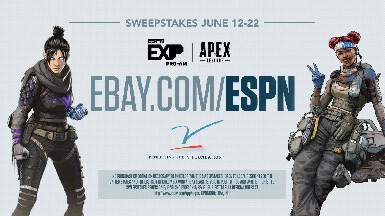 ESPYS Sweepstakes: Chance to win a spot at ESPN EXP Pro-Am -- Apex Legends