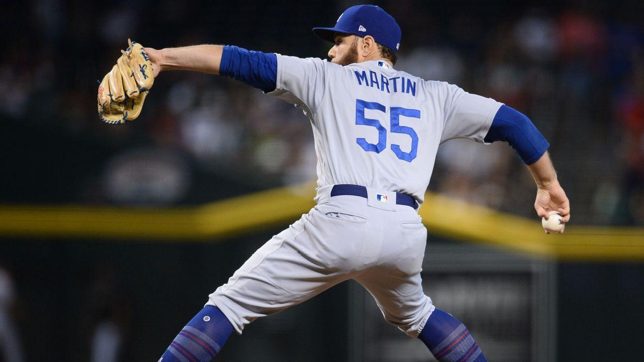 Dodgers C Martin records K in scoreless inning – ESPN