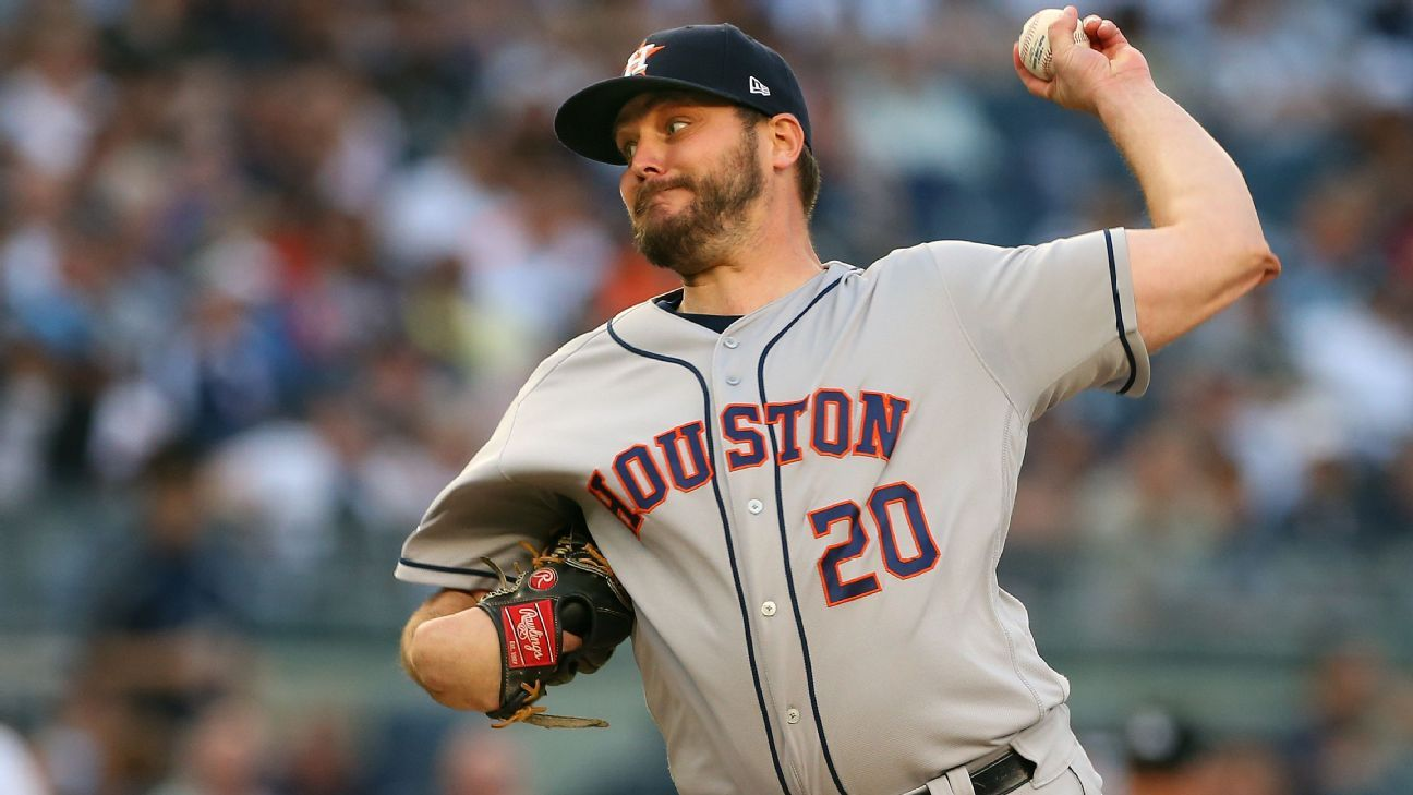 Astros go with all right-handed pitchers for ALCS; lefty Wade Miley not included