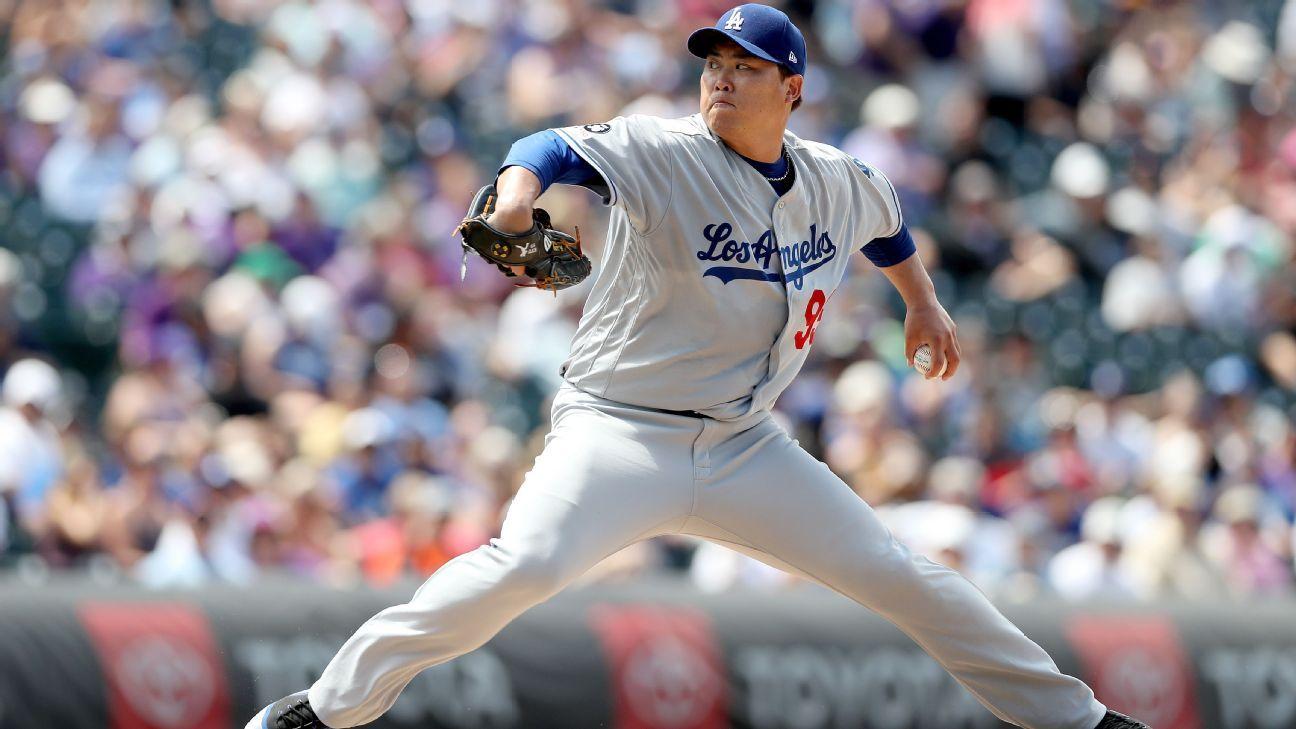 Dodgers Ryu Cae A Il Debutar 225 Gingergaard
