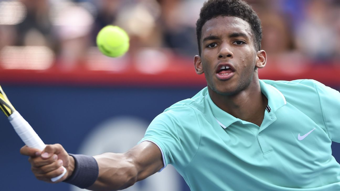 Auger-Aliassime wins, Kyrgios falls at Rogers Cup