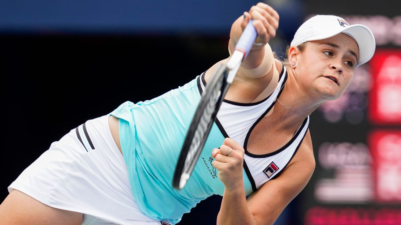 Barty reaches semifinals in Cincy; Osaka injured
