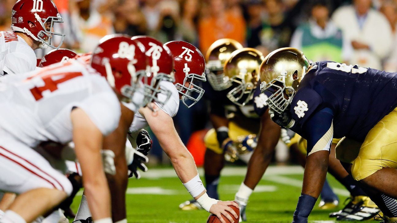 The 50 best college football programs over 150 years