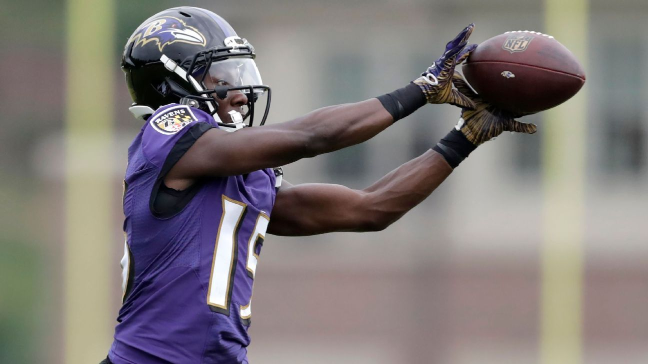 Ravens top receiver Marquise Brown won't play vs. Bengals