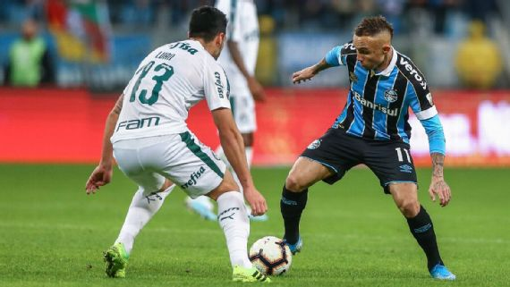 Ex-presidente do Grêmio diz que Palmeiras jogou como