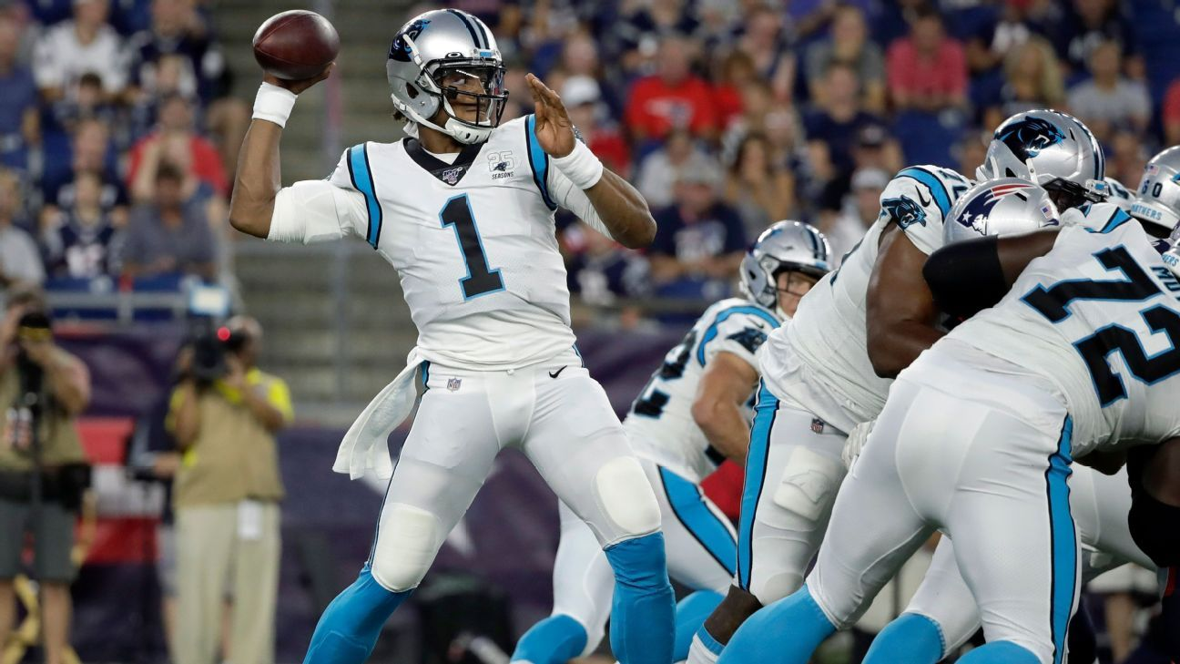 Panthers' Newton in walking boot with foot injury