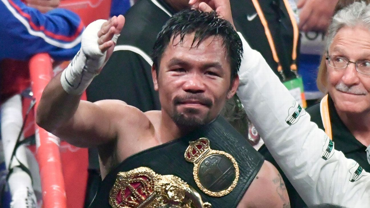 Manny Pacquiao plans to return to ring early in 2020