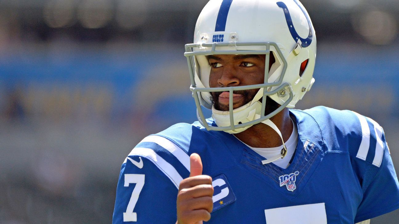 Colts QB Brissett (knee) out for Dolphins game