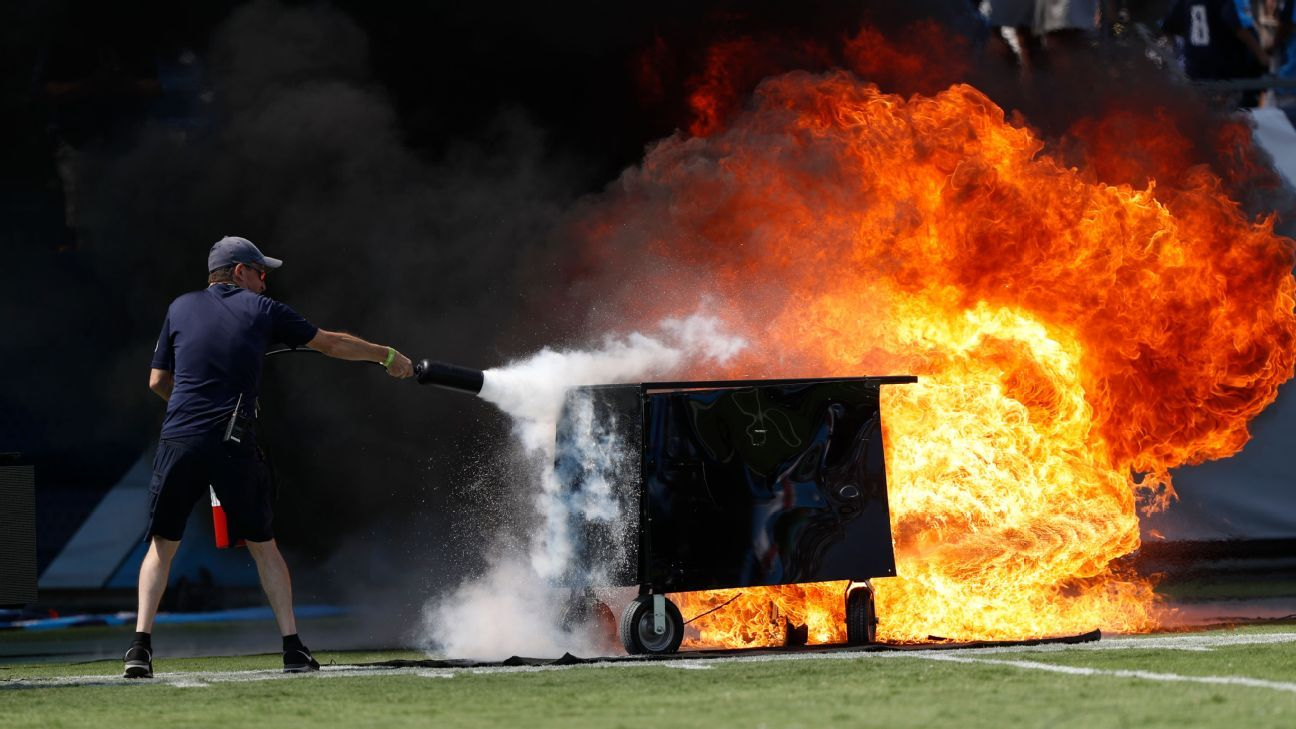 Flame out: NFL field pyrotechnics get brief ban