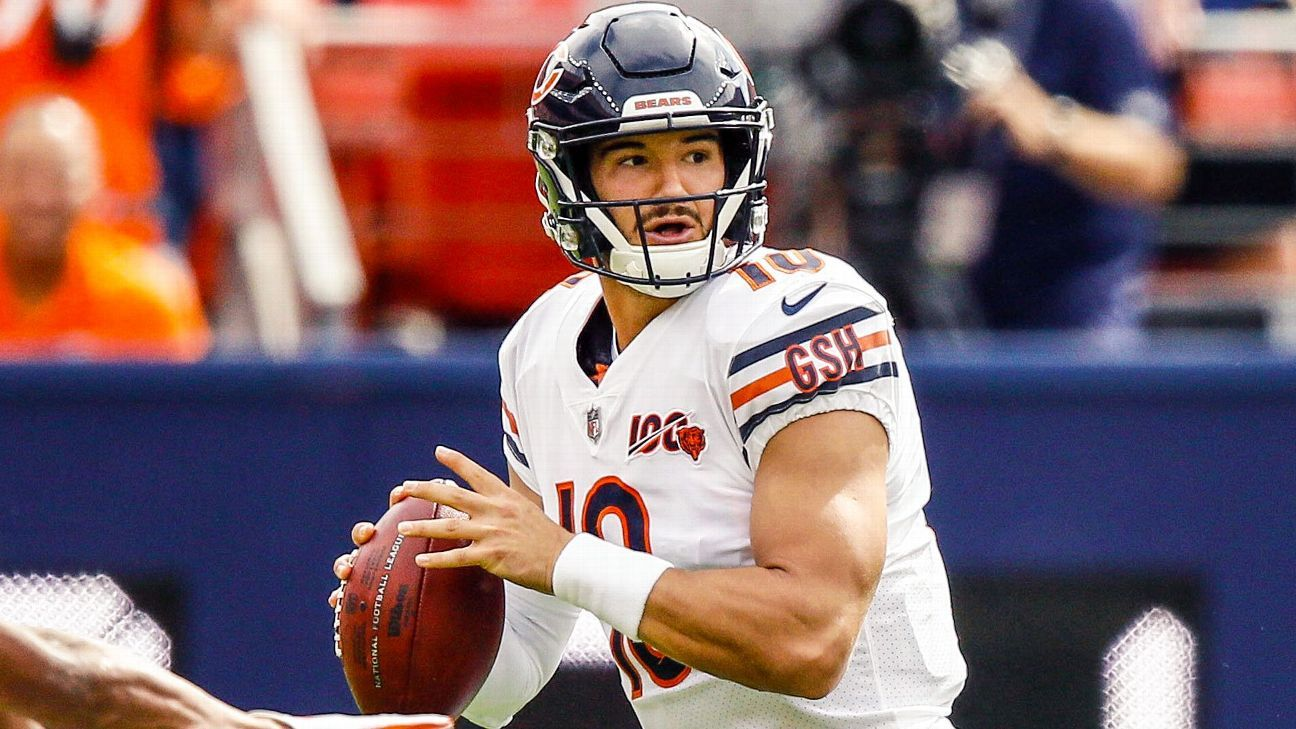 Matt Nagy 'cautiously optimistic' Mitchell Trubisky will play
