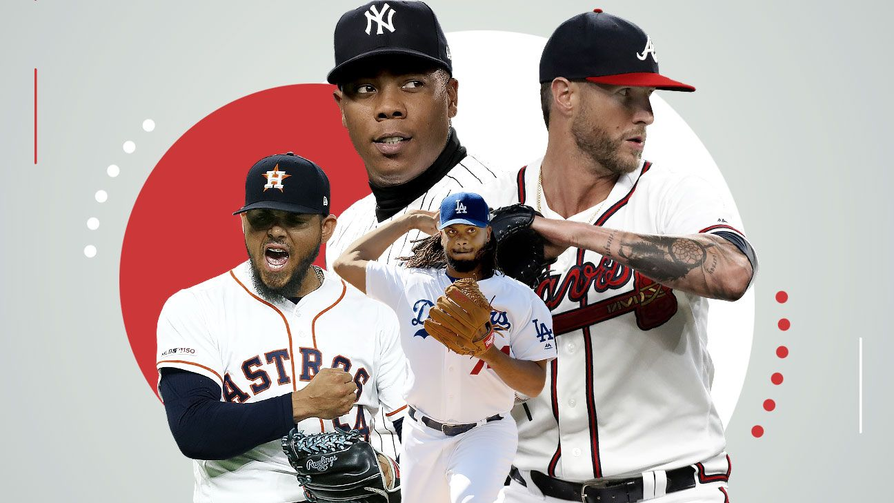 Your ultimate guide to MLB's October bullpens: Stars, surprises, rankings and more