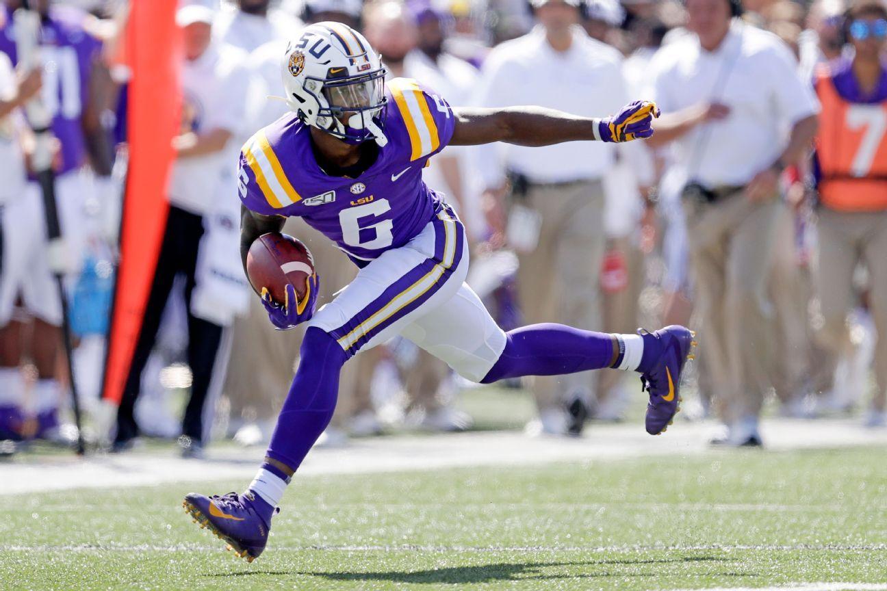 LSU receiver Terrance Marshall Jr. won't return vs. Mississippi State