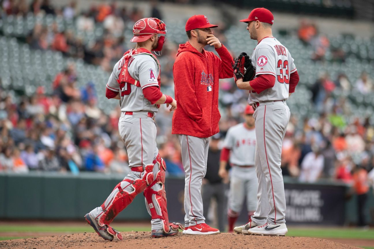 Angels part ways with pitching, bench coaches