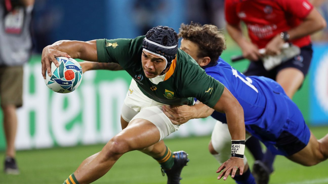 Kolbe beefs up Springboks' attack to face Japan in Rugby World Cup quarterfinals