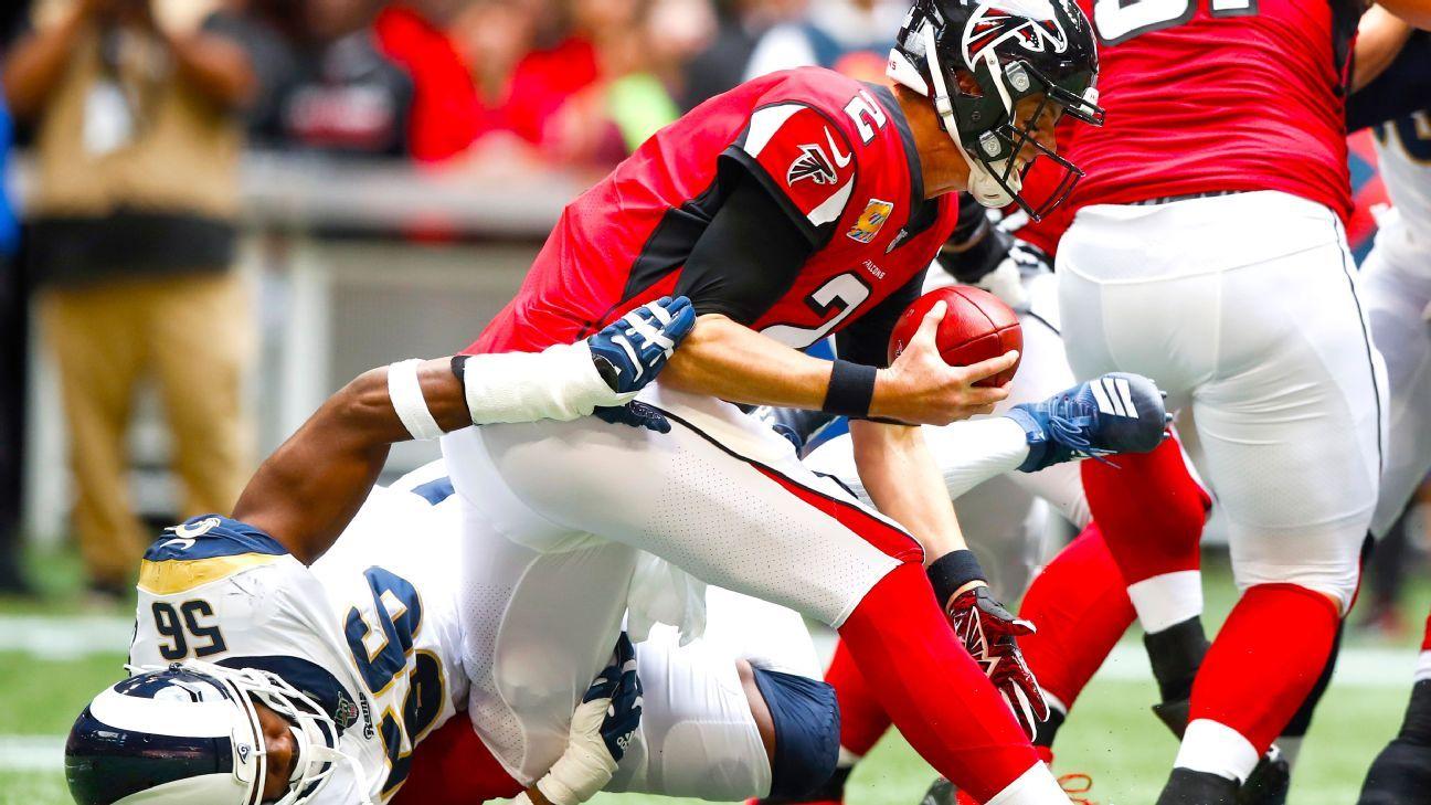 Falcons QB Matt Ryan (ankle sprain) not practicing; could still start Sunday