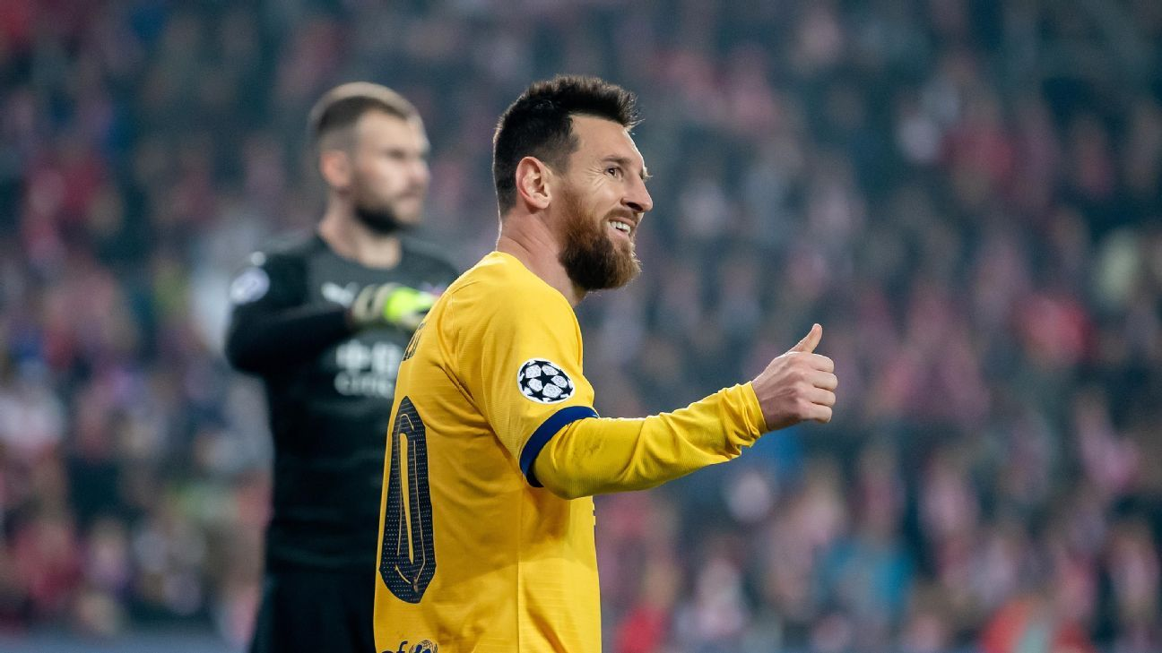 Messi the rare bright spot in 7/10 showing as Barca hang on for win in Prague