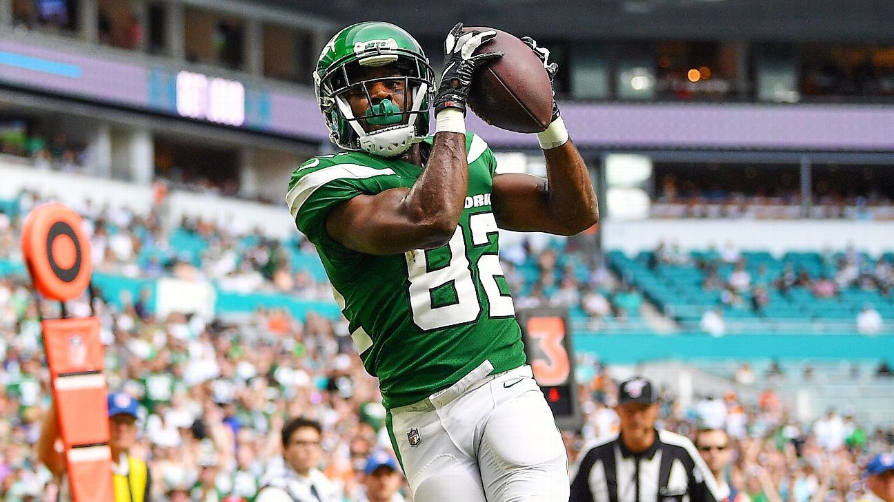 New York Jets receiver Jamison Crowder still recovering from COVID, out vs. Carolina Panthers