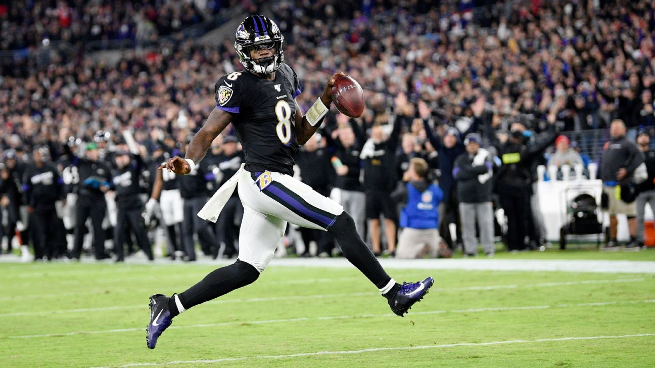 Lamar in the lead: Ravens QB has top MVP odds