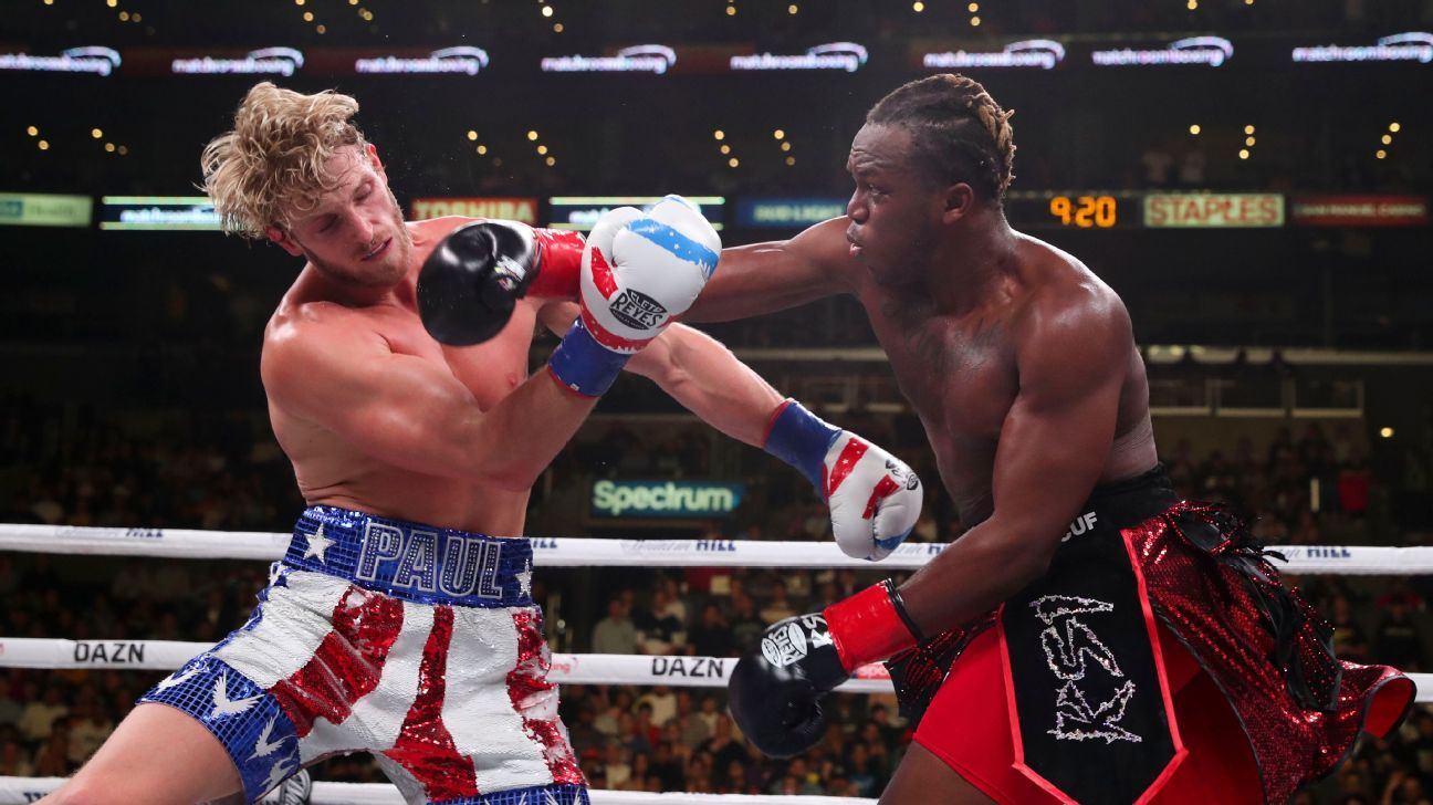 KSI defeated Logan Paul by split decision in a battle of YouTube sensations Saturday night at the Staples Center in Los Angeles.