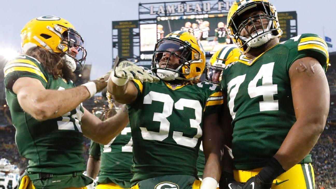 The Aaron Jones TD machine propels Packers over Panthers