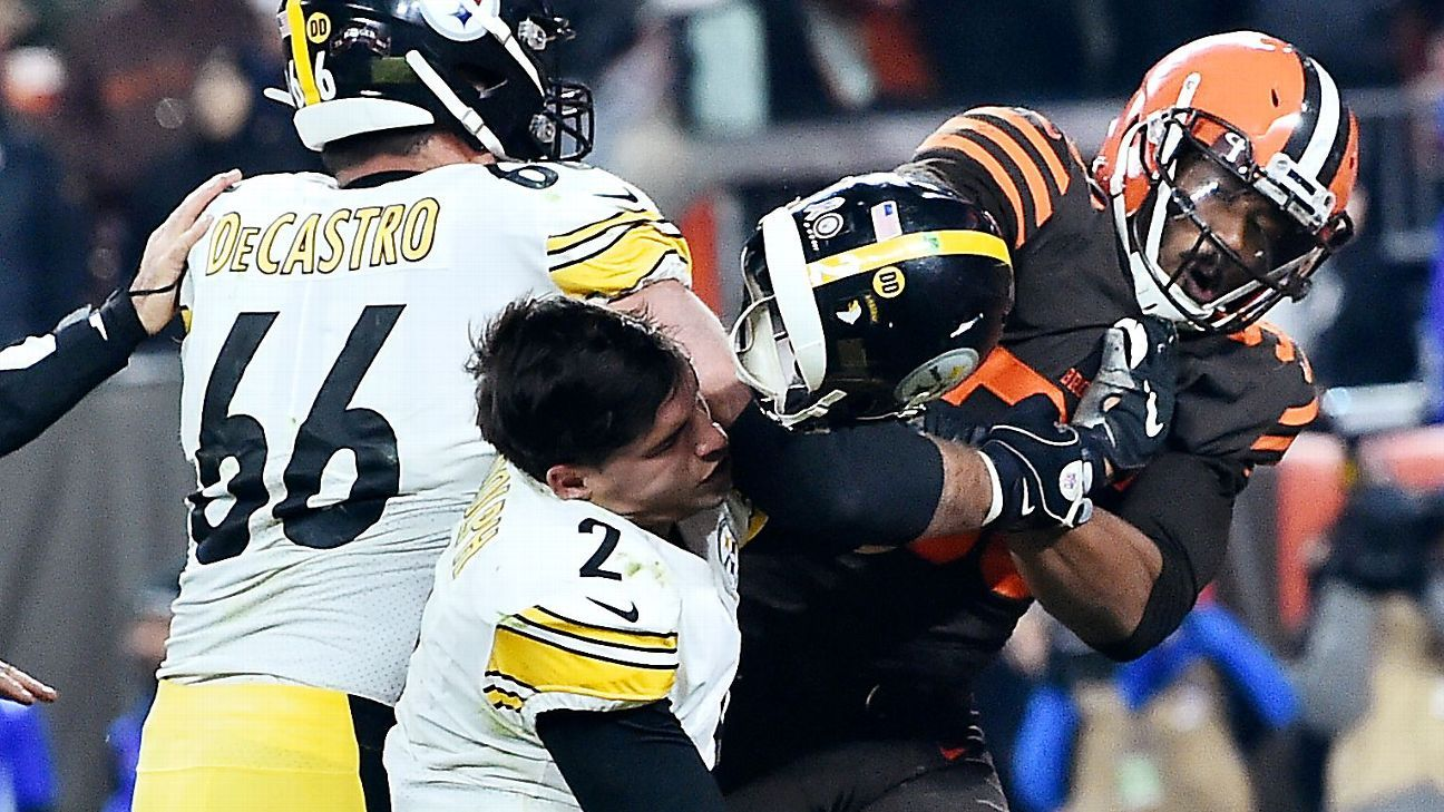 Myles Garrett Suspension For Steelers Browns Fight Why He
