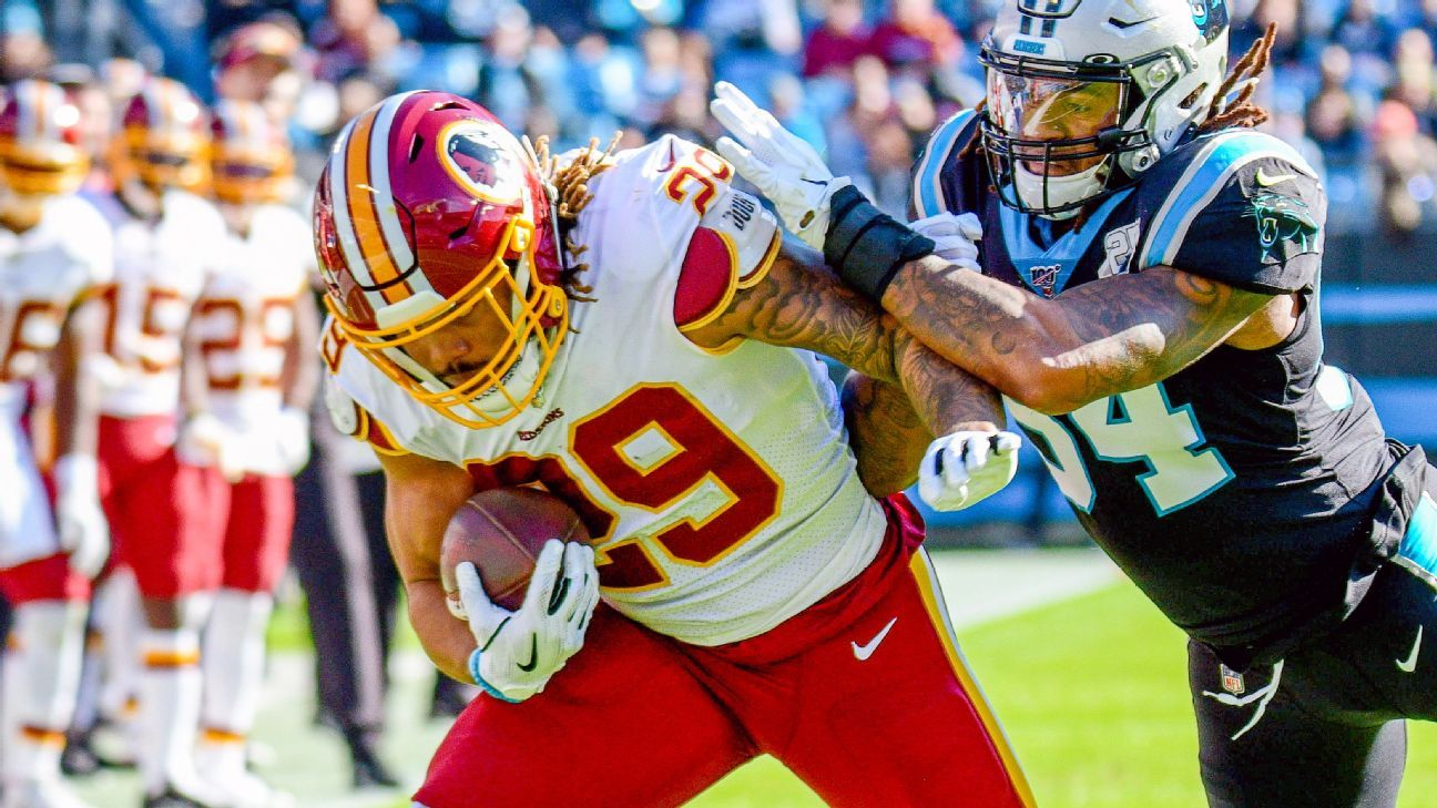 Derrius Guice, Adrian Peterson show promise in Redskins' run game