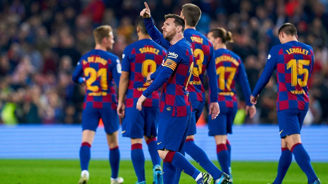 Messi grabs hat trick as Barca rout Mallorca