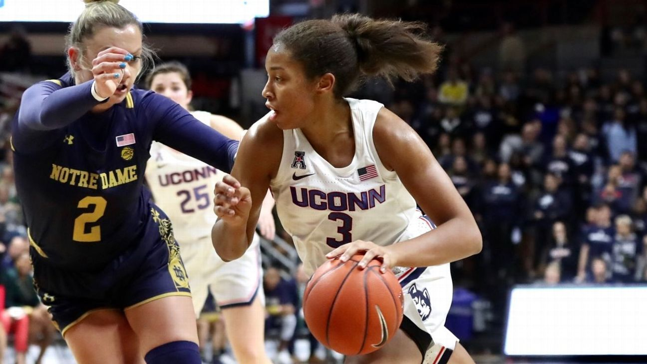Stanford on top, UConn up to No. 2 in AP women's Top 25