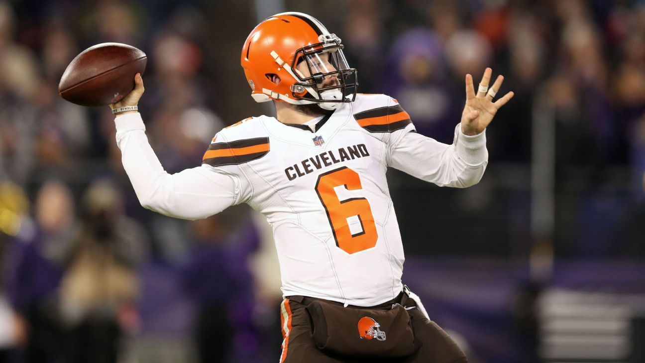 6e12ed491791 Browns  Baker Mayfield breaks NFL record for touchdown passes by a rookie