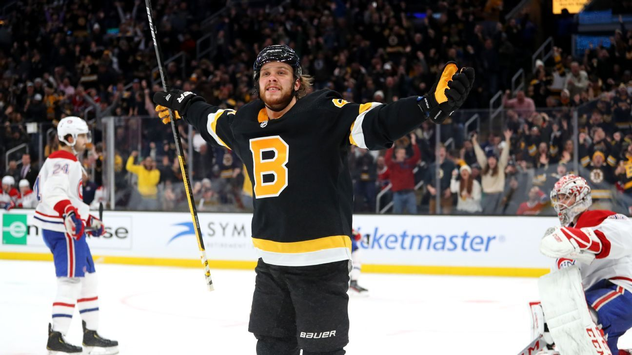 Pastrnak joins elite Bruins club with 4th hat trick