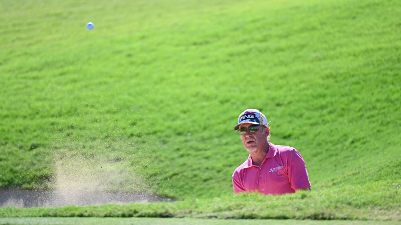 Miguel Angel Jimenez beats senior newcomer Ernie Els in playoff at Hualalai