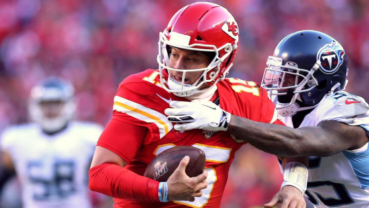 Kansas City Chiefs Quarterback Patrick Mahomes Tightropes Down The Sideline For Score