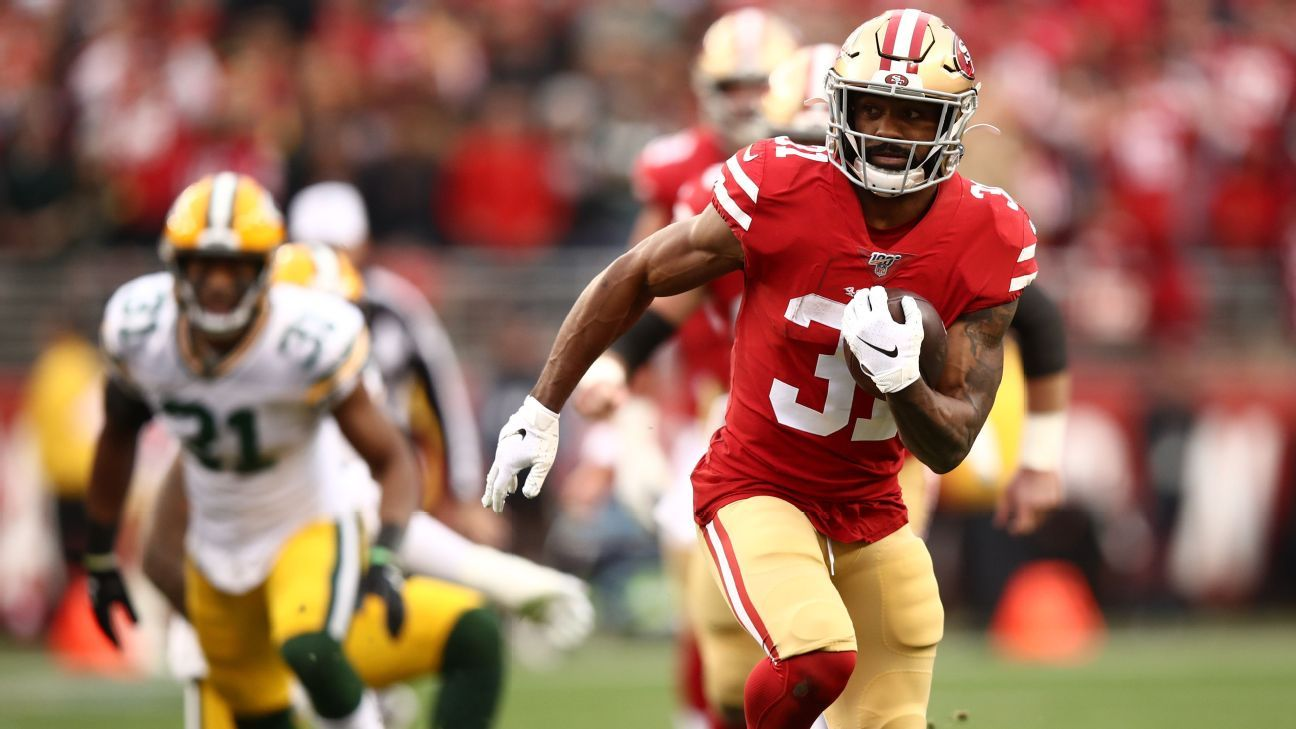 RB Raheem Mostert requests trade from 49ers, agent says - ESPN