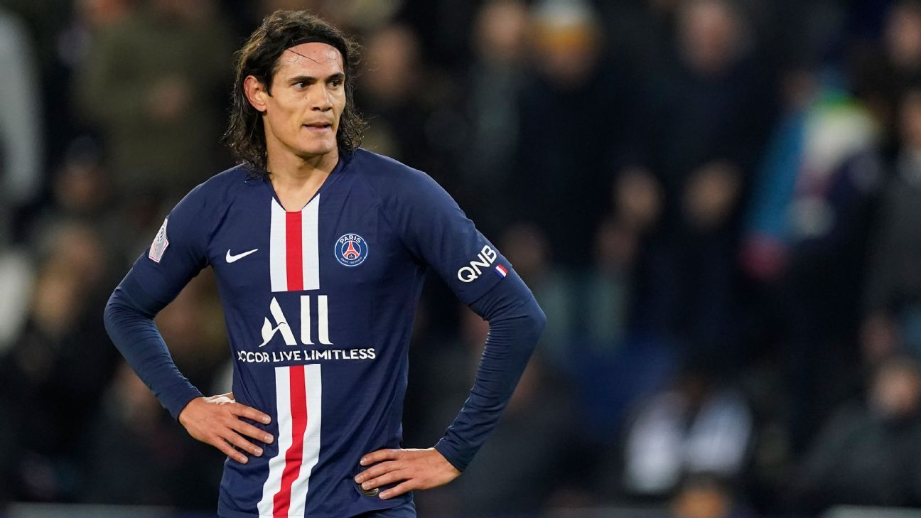 PSG want €20m for Cavani Atletico hopeful of deal sources - ESPN