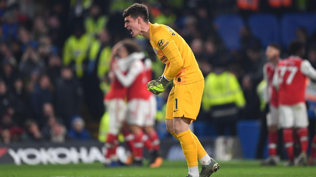 4/10 Kepa, Kante struggle as Chelsea held to demoralising draw by Arsenal