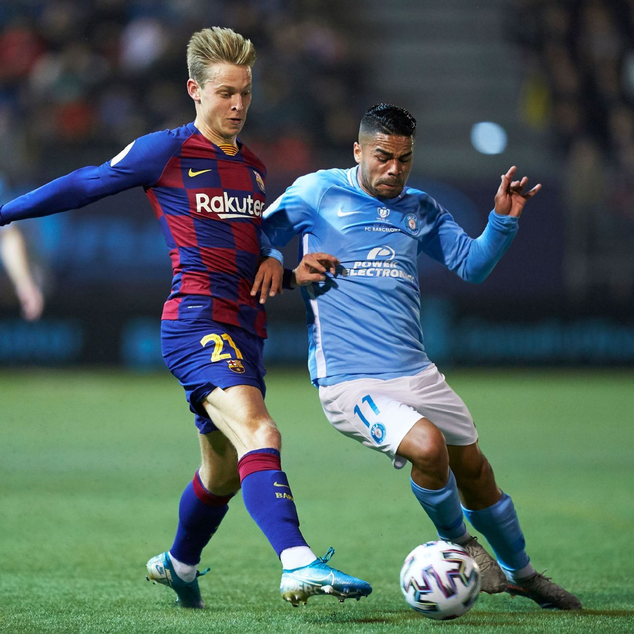 Barcelona squeak by tiny Ibiza with second-half Antoine Griezmann brace
