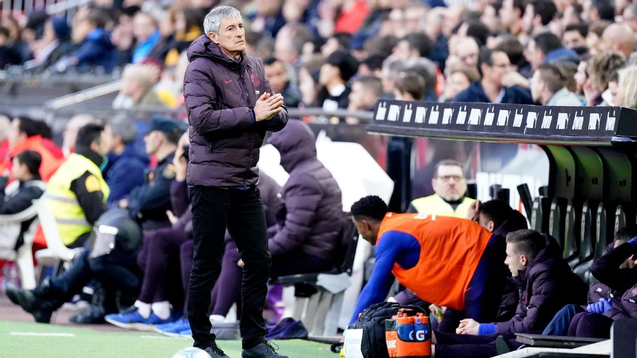 Barcelona boss Setien: Players still struggling to adapt to my style - ESPN