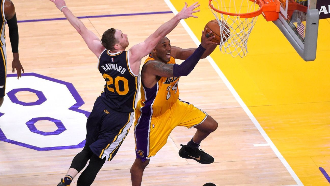 Gordon Hayward disputes helping Kobe Bryant get 60 in finale: He 'would have lost respect for me'