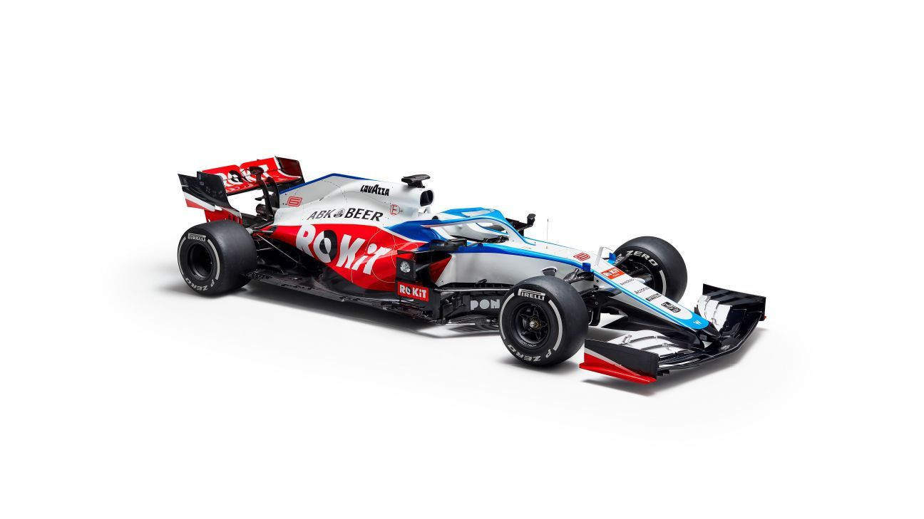 Williams reveals 2020 car with new livery