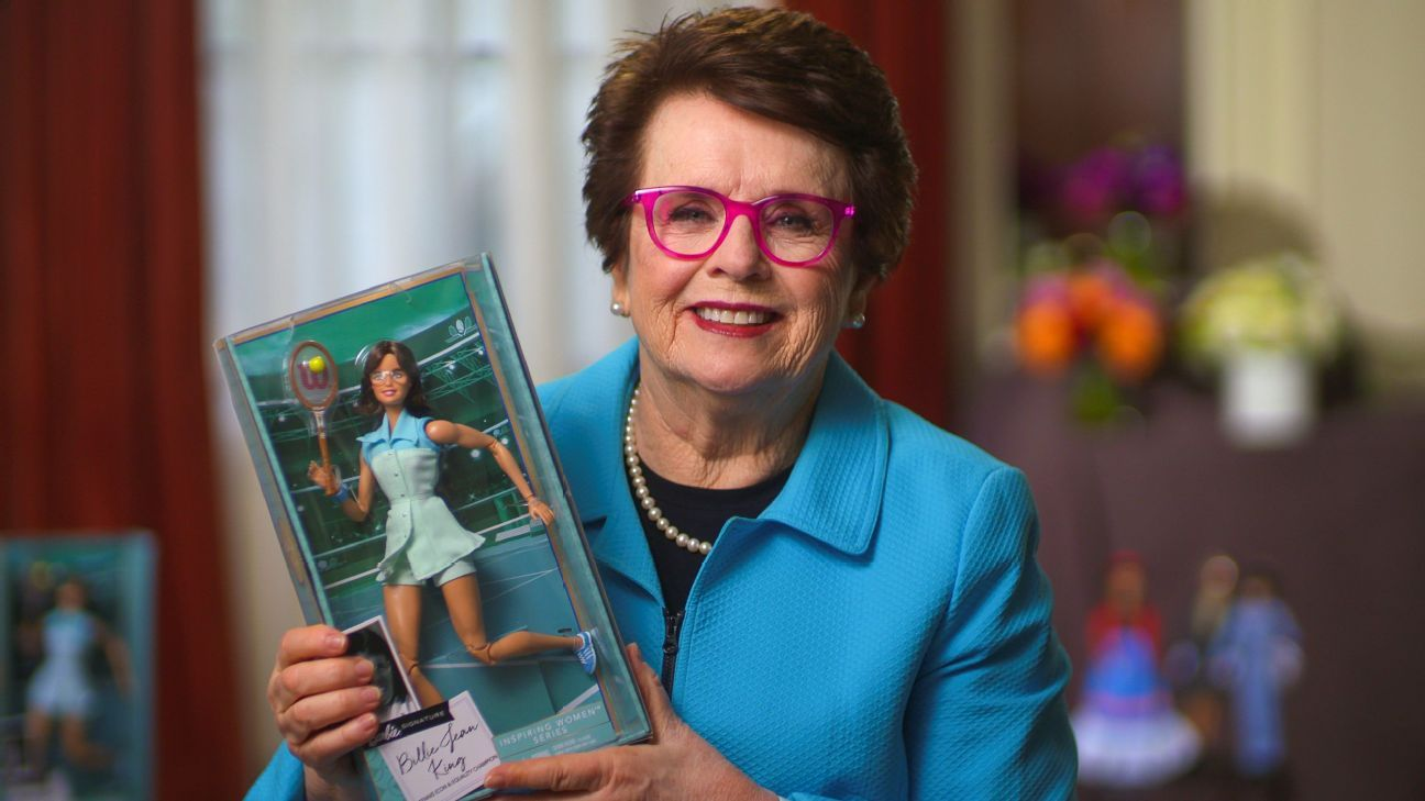 Billie Jean King paving new narrative in Barbie's world