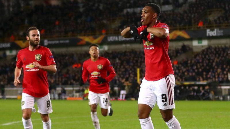 Away goal boost Man United draw vs. Brugge