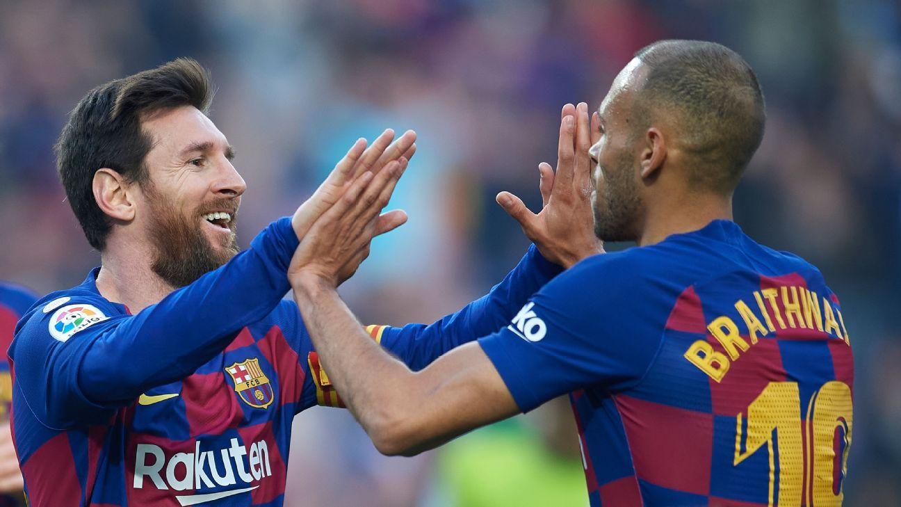Braithwaite: 'I won't wash my kit' after Messi hug