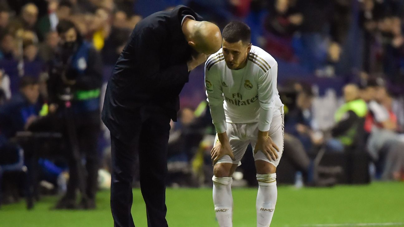 Hazard hobbles off as Real Madrid fall to second