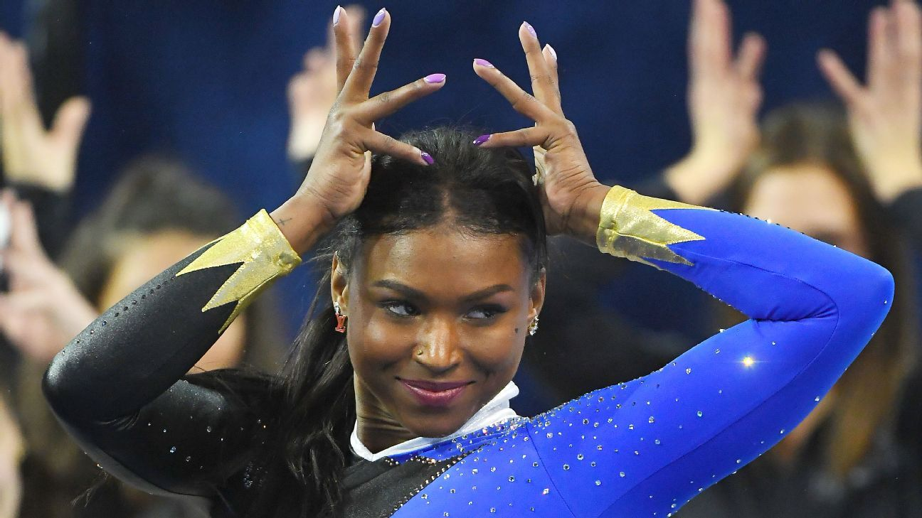 This Beyonce floor routine by UCLA gymnast Nia Dennis is on its way to breaking the internet