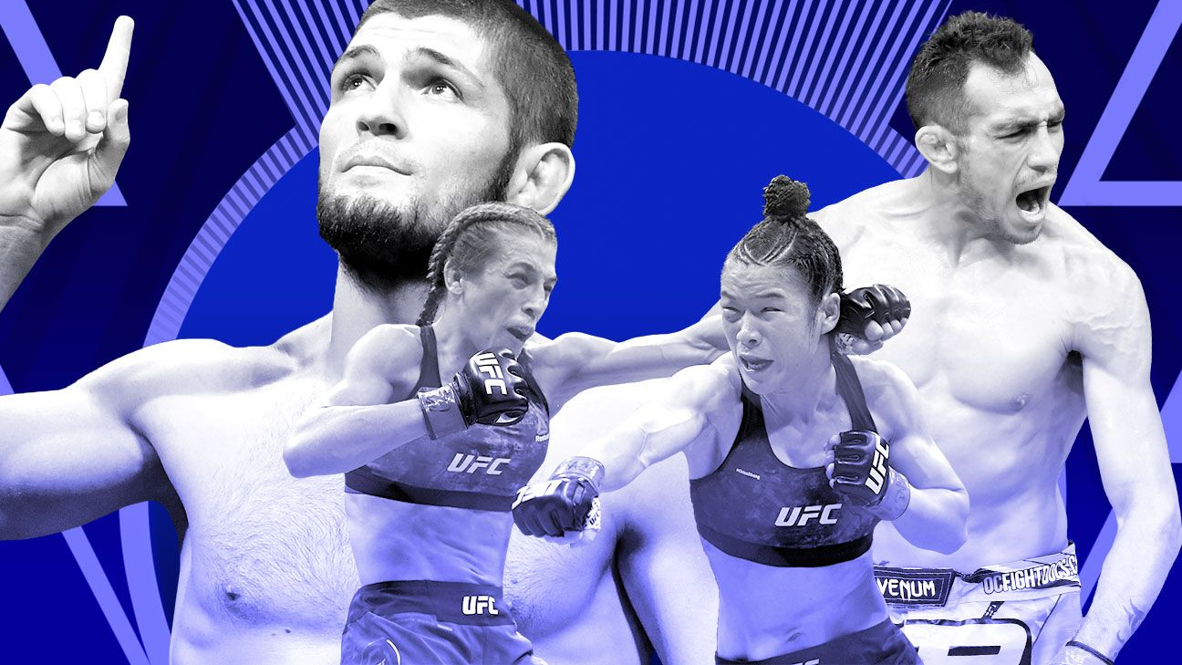 UFC stars come out on Saturday night: Zhang vs. Joanna; Ferguson and Khabib, as well