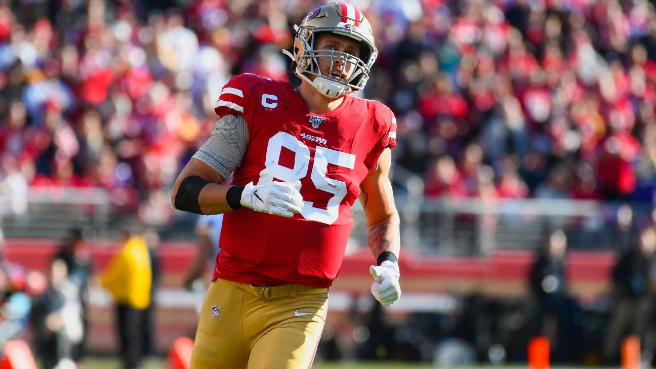 San Francisco 49ers place TE George Kittle on injured reserve