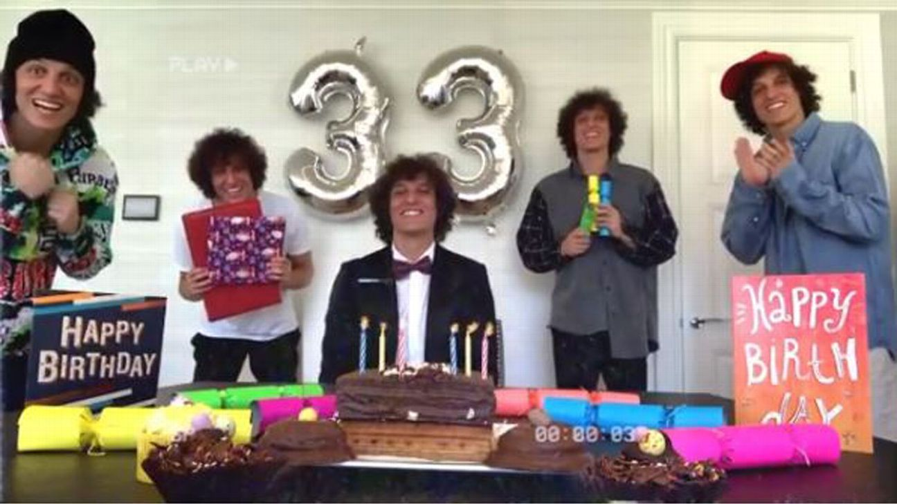 Arsenal's David Luiz hosts birthday party attended entirely by clones